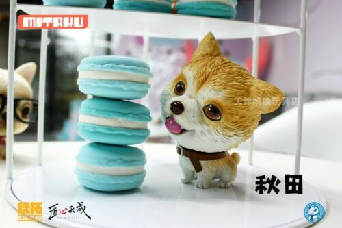 Mini Dog Animal Siberian Husky//Akita//Bulldog Pet Model Toy Scene Accessory
