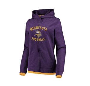 best service 857e3 8444b Details about Minnesota Vikings Majestic Women's Hyper Fandom Full-Zip  Hoodie-Purple