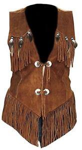 Suede Avec 5xl Vest Cow Femmes Feathersxs Ouest Et New Leather Franges Tx7wEcnqZa