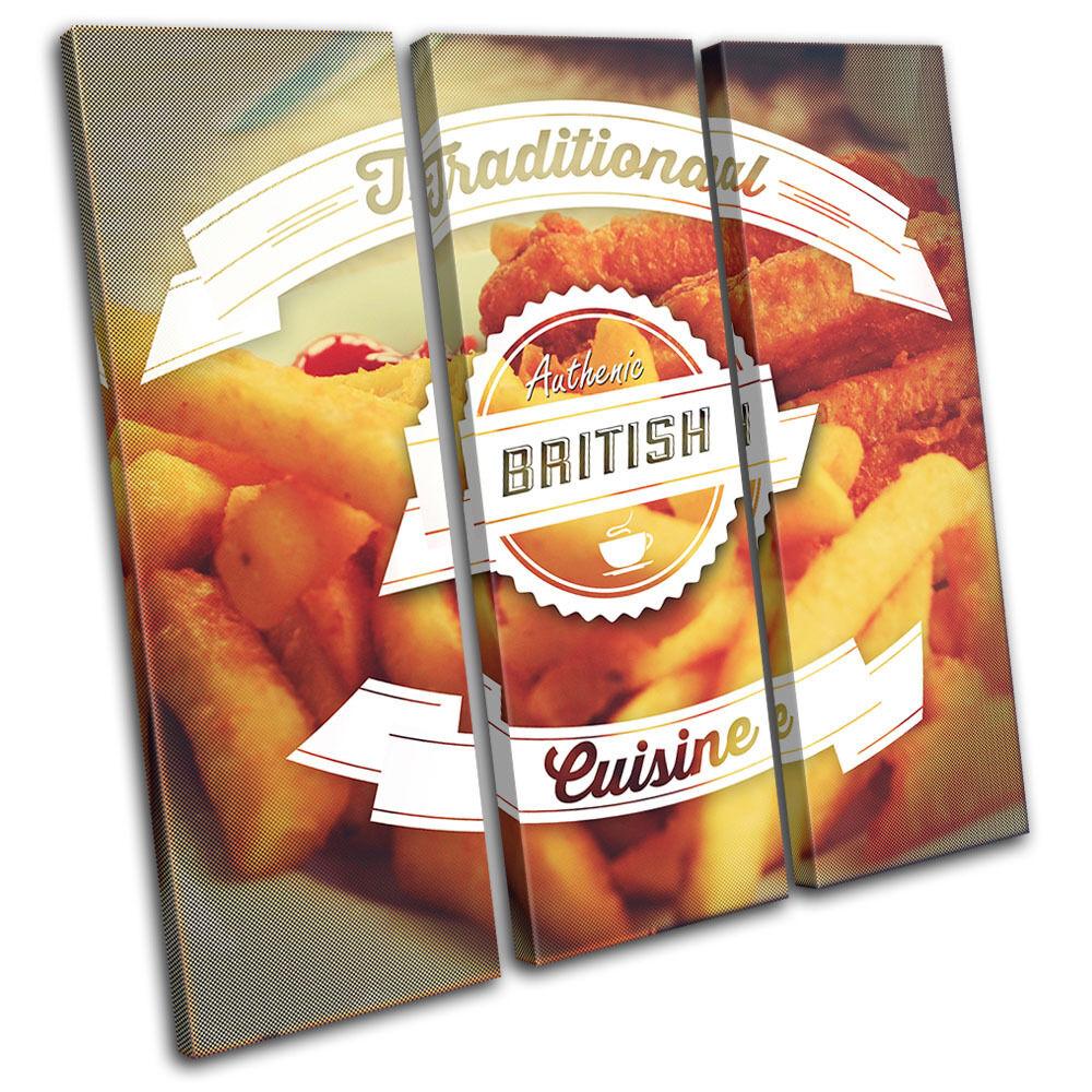 British Typography  Food Kitchen TREBLE TELA TELA TELA parete arte foto stampa 5641b0