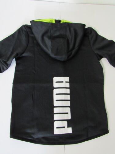 PUMA Toddler Boys Black//Volt Back Graphic Full Zip Hoodie Jacket size 6 NEW