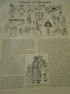 Calcutta Et L'himalaya Print Art Humour 1908 Zxppe97r-07161748-871701297