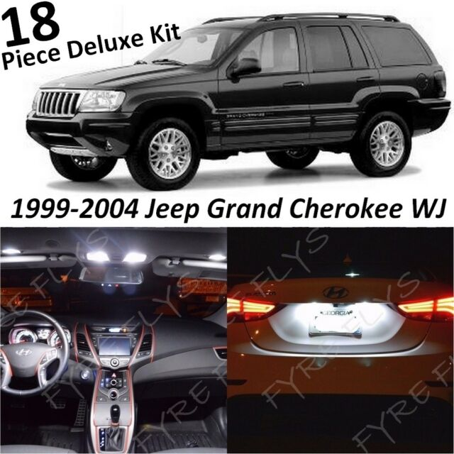White Interior LED Lights Deluxe Pack For 1999-2004 Jeep