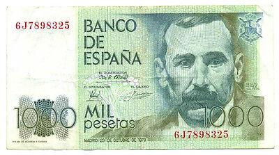 P-158 Spain 1000 Pesetas 1979 VF+//XF