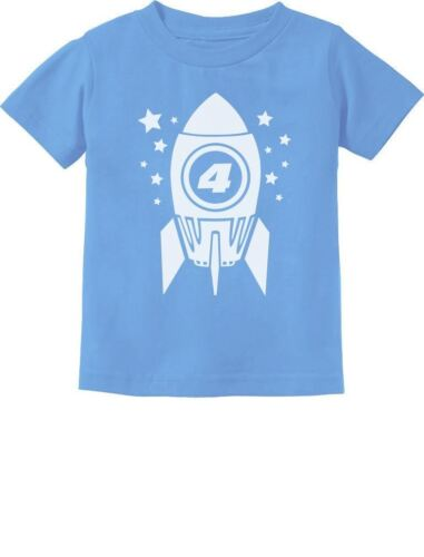 Gift for Four Year Old 4th Birthday Space Rocket Toddler//Infant Kids T-Shirt