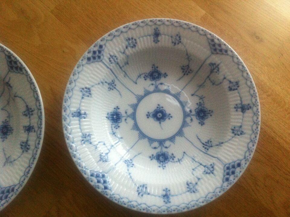 Porcelæn, 21 cm dyb tall/halvblonde RC