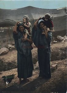 Bedouin Davanti Loro Tenda Vintage Cartolina P. Z. Ca 1890