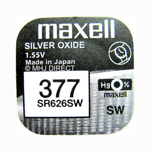 MAXELL-377-SR626SW-AG4-Silver-Oxide-Watch-Batteries-SELECT-1-2-3-4-5-amp-10-x-QTY