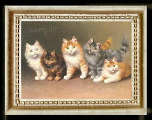 Cat Cats Kitten Miniature Dollhouse Doll House Picture