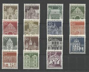 Bund-489-503-sauber-postfrisch-BRD-1966-Deutsche-Bauwerke-II-Freimarken-MNH