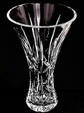 Stunning Waterford Crystal Flared Flower Vase 8 Inches Made In Ireland