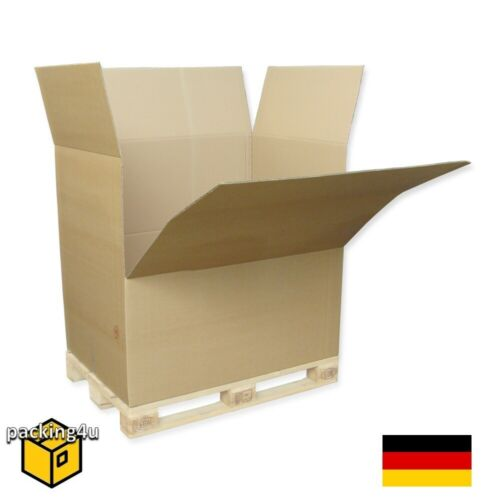 20x Karton Faltkarton Palettenkarton 2-wellig 1180 x 780 x 1070 mm Abklappbar