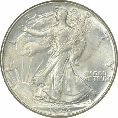 1946 Walking Liberty Silver Half Dollar BU Uncertified