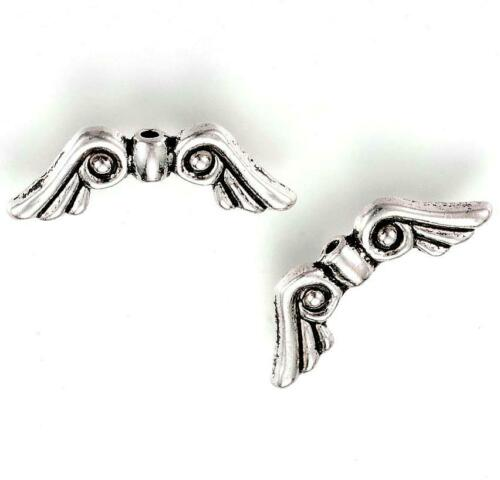 21mm Angel Wing Beads Silver Butterfly Fairy Dragonfly Jewelry Findings Supplies