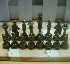 A set of Antique bronze copper lovely delicate international chess Charm Pendant
