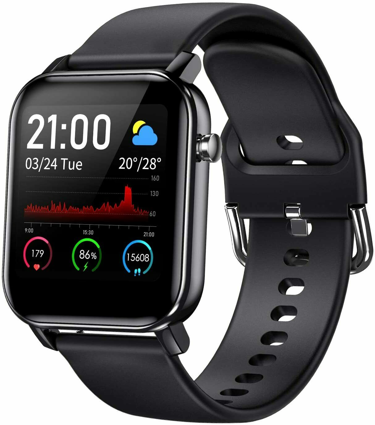 """Smart Watch, Fitness Tracker with 1.4"""" Touch Screen, Activity Tracker activity Featured fitness smart touch tracker with"""