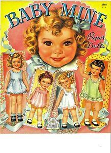 VINTAGE UNCUT 1944 BABY MINE PAPER DOLLS~ORIGINAL SIZE~#1 REPRODUCTION~SCARCE!