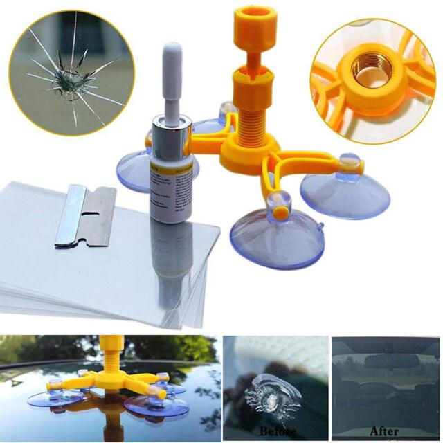 Windshield Windscreen Repair Tool Set DIY Car Wind Screen Glass Chip Crack Kit d