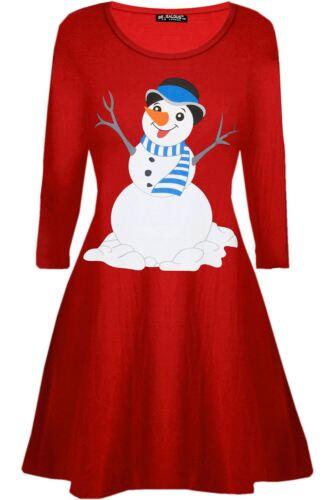 Enfants Filles Noël Noël Chapeau Bonhomme de Neige Câlin Carotte Nez à Manches Longues Swing Robes