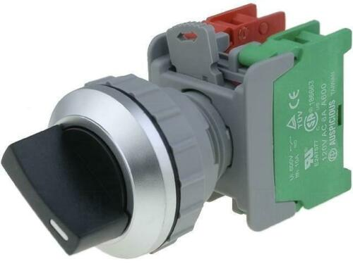 Ss30-1-o/c-bk interruptor giratorio - 2-dígitos NC + no 30mm negros ip65 -20-60 ° C