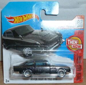 Hot-Wheels-Aston-Martin-1963-DB5-antes-y-ahora-Tarjeta-Corta-Negro-2016