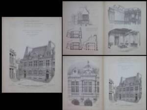 Moulins, Caisse D'epargne - 1900 - Gravures Architecture, Rene Moreau Officiel 2019