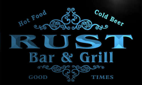 u38733-b RUST Family Name Bar /& Grill Home Brew Beer Neon Sign