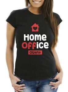 Damen T Shirt Aufdruck Home Office Outfit Arbeit Zuhause Frauen Fun Shirt Buro Ebay