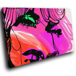 Pink-Red-Green-Woman-Abstract-Canvas-Wall-Art-Cool-Picture-Prints