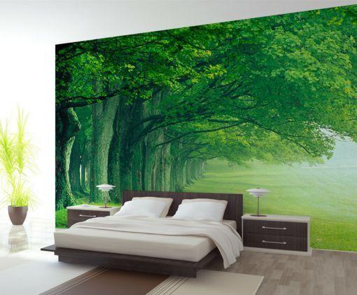 3D greene Wälder und Wiesen Fototapeten Wandbild Fototapete BildTapete Familie DE