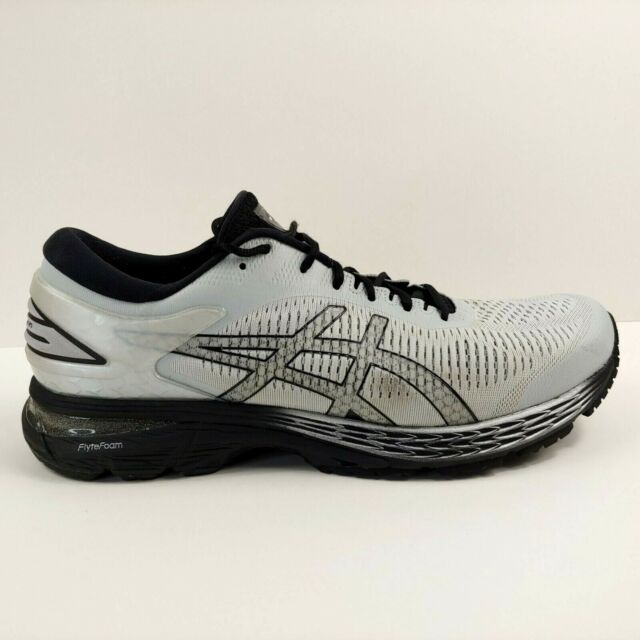 Asics Gel Kayano 25 Mens Size 12 US White Black Running Shoes Lace Up 1011A019