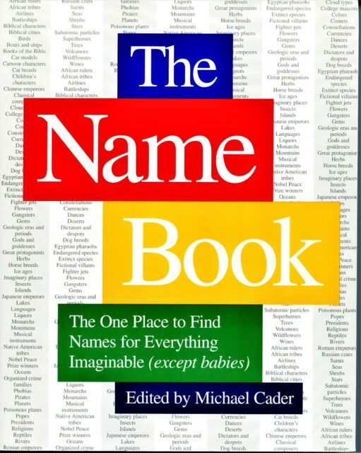 Name Book : The One Place to Find Names for Everything Imaginable (Except...