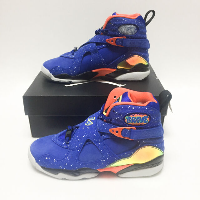 sports shoes 0af83 efe5d Air Jordan VIII 8 Retro DB GS Sz 4y Doernbecher HYPER Blue Orange 729894-480