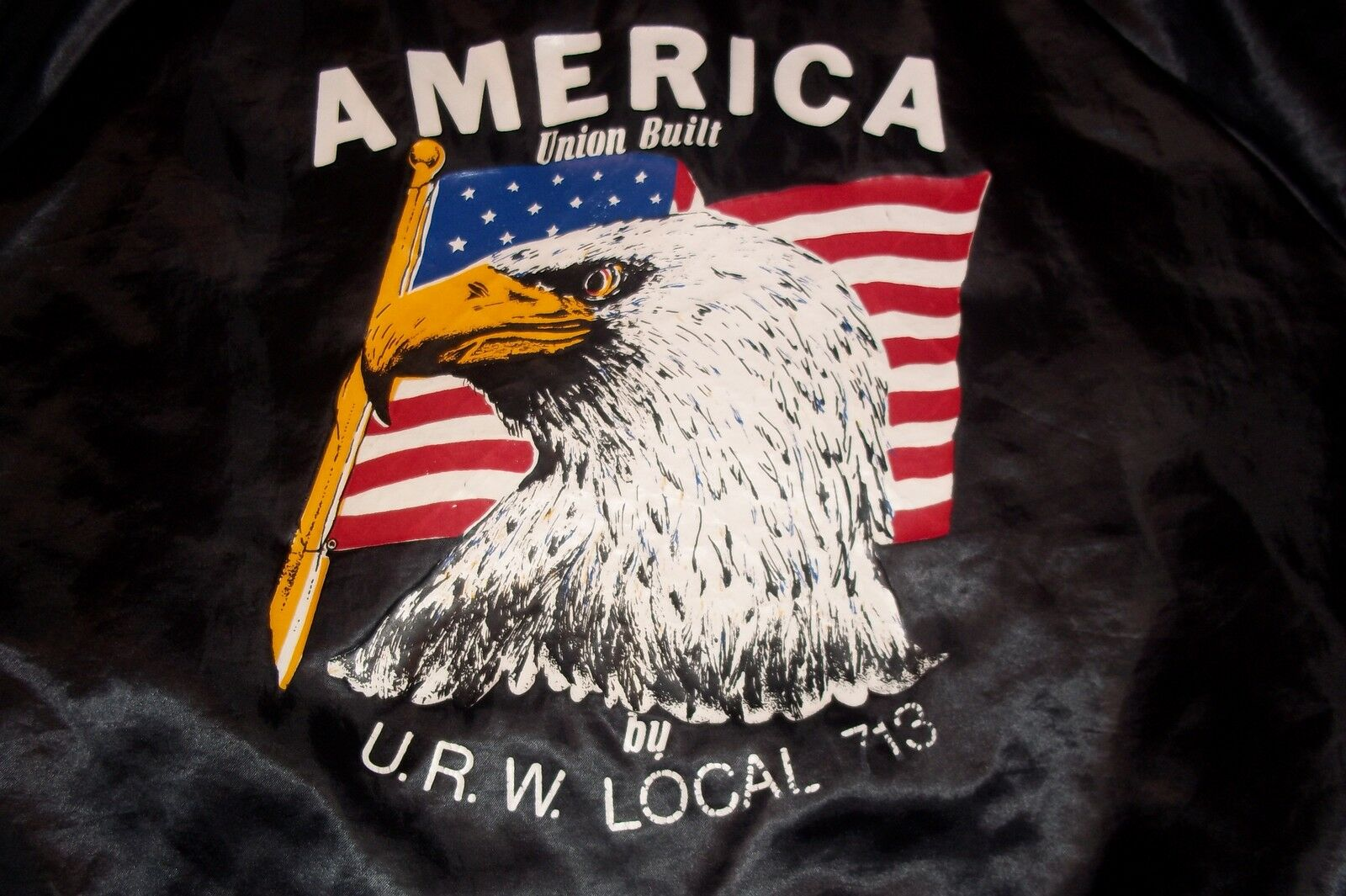 U.R.W.Local 713 Decatur IL United Rubber Cork Linoleum Plastic Union Jacket Coat