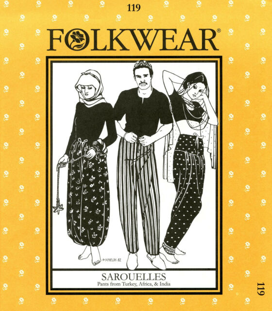 Folkwear 60 Sarouelles Unisex Pants Turkey Africa India Sewing Awesome African Sewing Patterns
