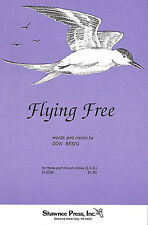 Don Besig Flying Free SAB Vocal Choral Learn Sing Play Piano Music Book