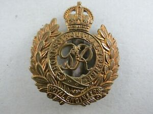 Military-Brass-Badge-Royal-Engineers-George-VI-British-Army
