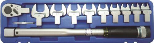 """Drehmomentschlüssel 40-210 Nm Maulschlüssel 13-30mm 1//2/"""" Ratsche 11 tlg Set BGS"""