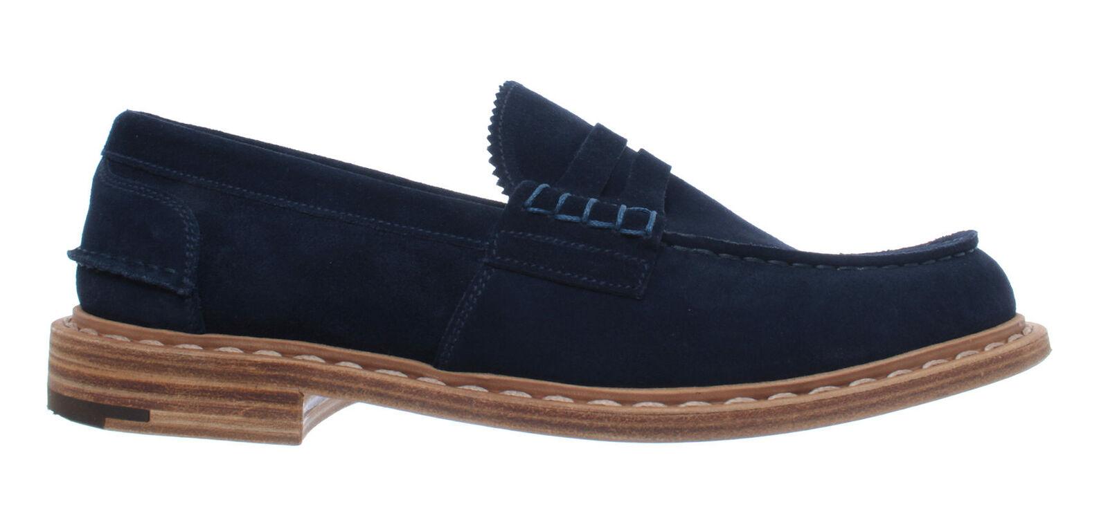 Para hombres Zapatos Mocasines Mocassins PREMIATA 31404 Shara pilota Ante Azul Nuevo