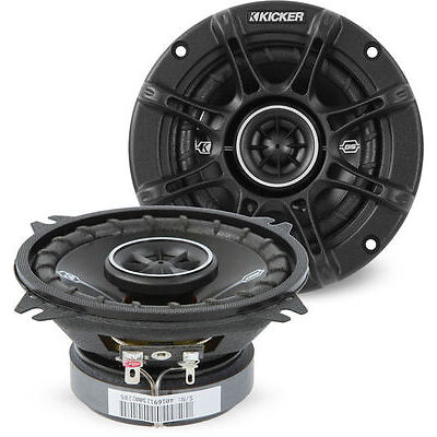 """Kicker 41DSC4 60W RMS 4"""" D-Series Factory Upgrade Coaxial Car Stereo Speakers"""