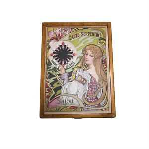 """SAJOU Wooden storage box for thread cards """"Serpentine"""""""