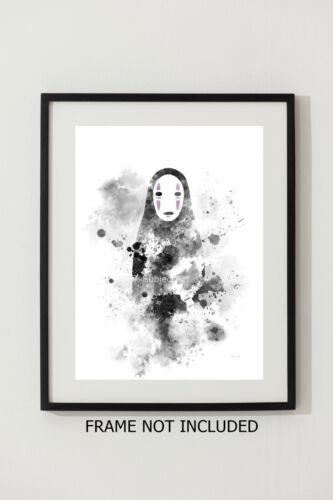 Spirited Away illustration Studio Ghibli Anime Wall Art Gift ART PRINT No Face