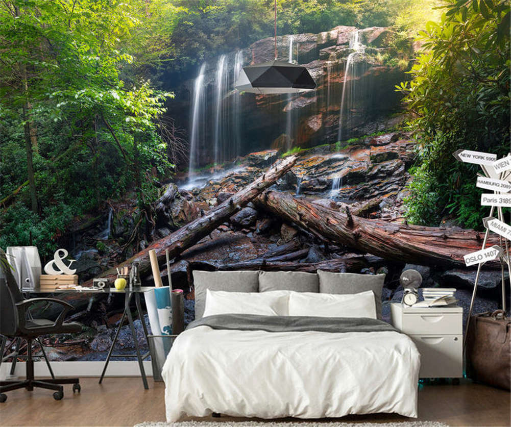 Concise Tall Valley 3D Full Wall Mural Photo Wallpaper Printing Home Kids Decor