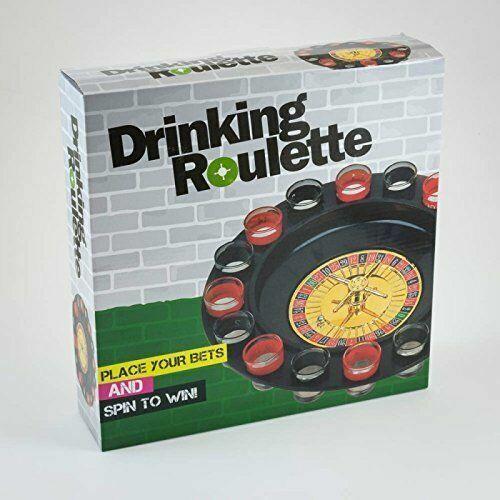 Les adultes Drinking Roulette Jeu Fête Table avec 16 verres à liqueur