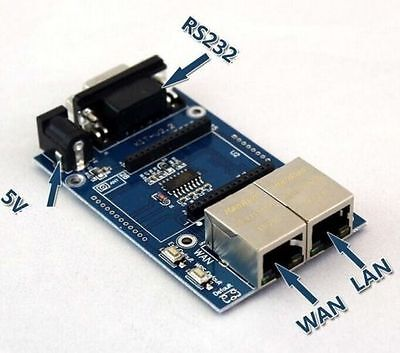 HLK-RM04 UART to WIFI Serial Port to Wifi Module Test Base Board NEW