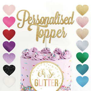 Custom-Cake-Topper-Any-Word-Name-Personalised-Customised-Gold-Glitter-Decoration