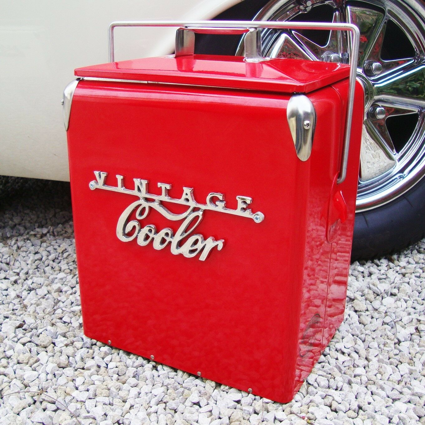 VINTAGE COOLER Coolbox RED Retro coca cola Coke Cool  box vw wedding present  everyday low prices