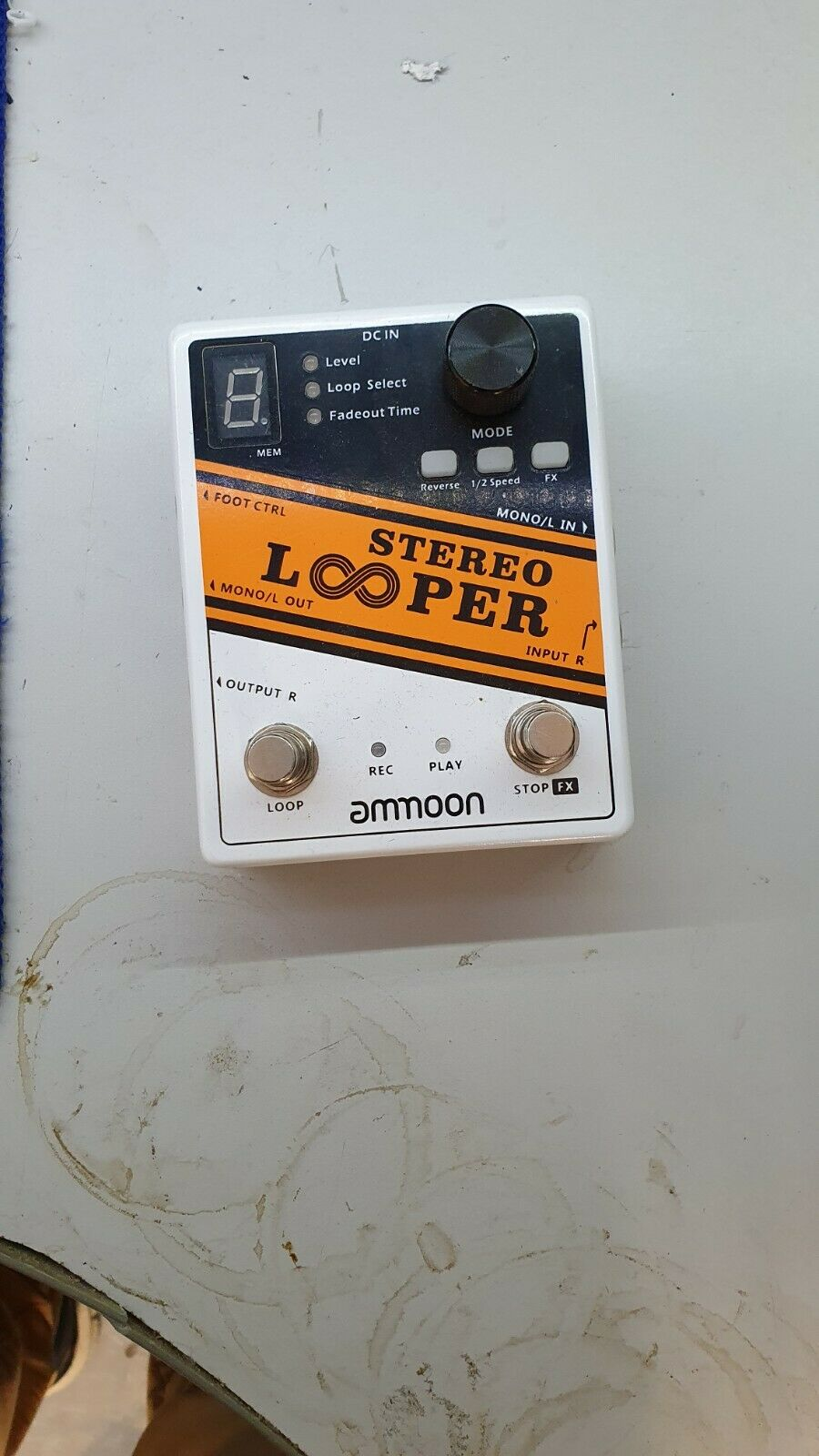 ammoon Stereo Looper Pedal, Good Condition.