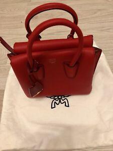 Details zu MCM Tasche , Milla Tote mini , Wie Neu Rot