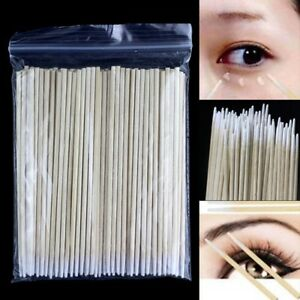 Details About 100xcotton Swabs Pointed Swab Applicator Q Tips Wooden Sticks Cotton Buds